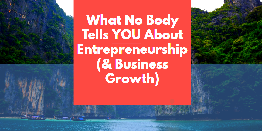 entrepreneurship and business growth